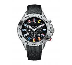 Orologio Nautica da uomo A24520G Bandierine Cinturino in pelle nero