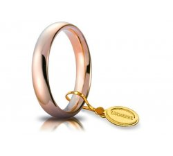 Fede Nuziale Unoaerre Comoda 4 mm Oro rosa