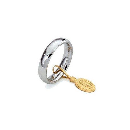 Fede Nuziale Unoaerre Comoda 4 mm Oro bianco