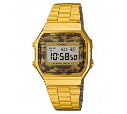 Orologio CASIO Unisex Vintage A168WEGC-5EF dorato camouflage