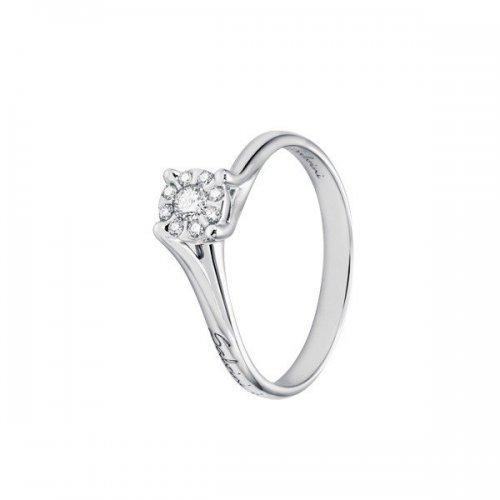 Anello solitario Salvini oro bianco e diamanti collezione Daphne Solitaire