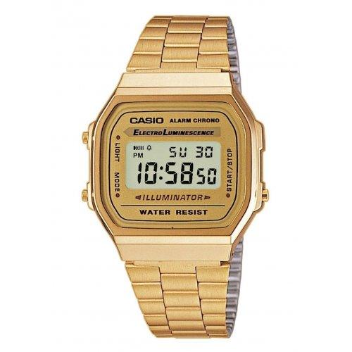 a06c017e36d6 Orologio CASIO Unisex Illuminator A168WG-9EF Acciaio PVD oro dorato ...