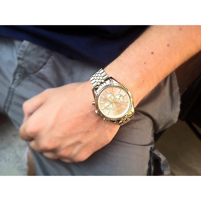23bc50a79c4489 ... Orologio Michael Kors da uomo Collezione Lexington MK8281 dorato ...