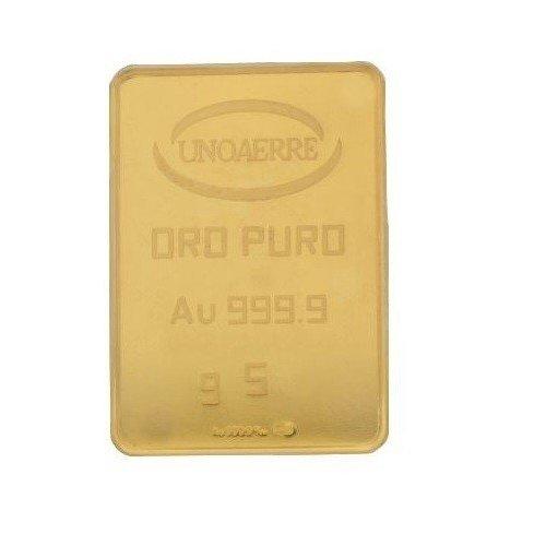 Lingotto Unoaerre da 5 grammi in Oro puro 24 Carati 999/00
