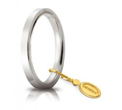Fede Nuziale Unoaerre Cerchi di Luce 2,5 mm Oro Bianco