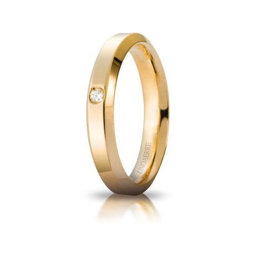 Fede Nuziale Unoaerre Hydra con diamante Oro Giallo Brillanti Promesse
