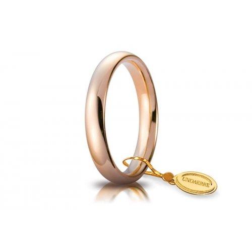 Fede Nuziale Unoaerre Comoda 3,5 mm Oro rosa