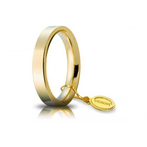 Fede Nuziale Unoaerre Cerchi di Luce 3,5 mm Oro Giallo