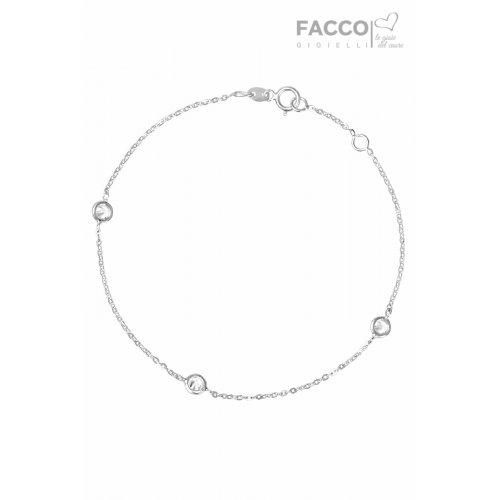 Bracciale Facco Gioielli in Oro Bianco e Zirconi 727527