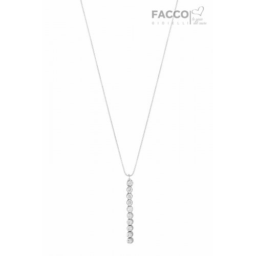 Collana Facco Gioielli in Oro Bianco e Zirconi 703503