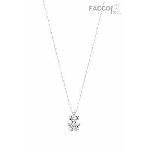 Collana Facco Gioielli in Oro bianco Ciondolo Bimba Bebè 715746