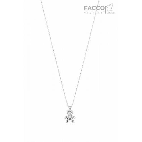 Collana Facco Gioielli in Oro bianco Ciondolo Bimbo Bebè 715748