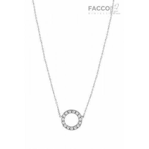 Collana Facco Gioielli in Oro Bianco e Zirconi 727534