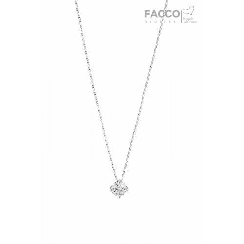 Collana punto luce Facco Gioielli in Oro Bianco 699102
