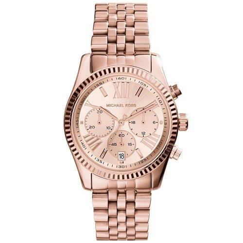 Orologio MICHAEL KORS Collezione Lexington MK5569 Acciaio oro rosa