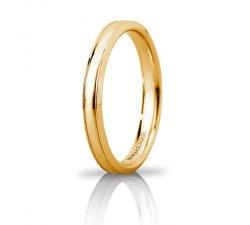 Fede Nuziale Unoaerre Orion slim Oro giallo Brillanti Promesse