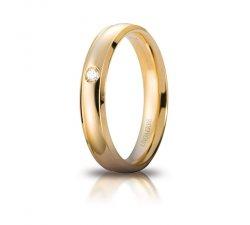 Fede Nuziale Unoaerre Orion Oro giallo con diamante Brillanti Promesse