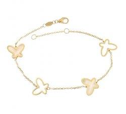 Bracciale donna in oro giallo farfalle 803321733399