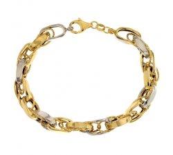 Bracciale donna in oro giallo e bianco 803321704192