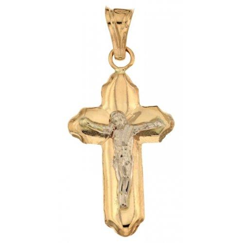 Croce da uomo in Oro Giallo e Bianco 803321728872