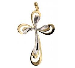 Croce da donna in Oro Giallo e Bianco 803321725399