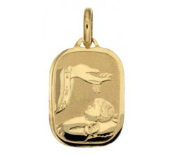 Medaglia Ciondolo da Battesimo Oro Giallo 803321712074