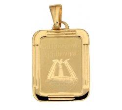 Medaglia Ciondolo da Battesimo Oro Giallo 803321714979