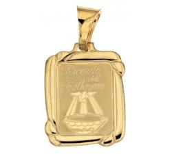 Medaglia Ciondolo da Battesimo Oro Giallo 803321714983