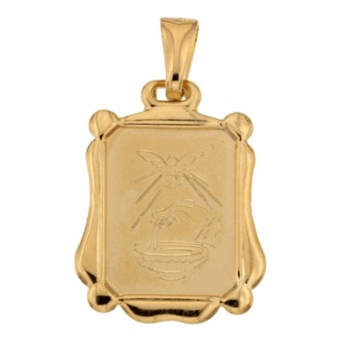 Medaglia Ciondolo da Battesimo Oro Giallo 803321730871