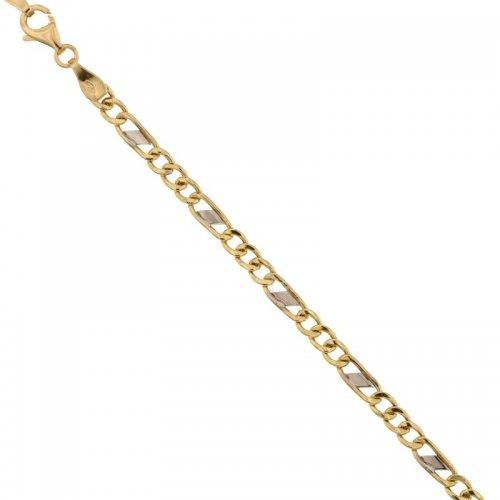 Bracciale Uomo in Oro Giallo e Bianco 803321700317