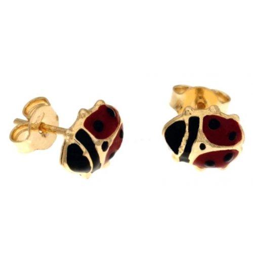 Orecchini Coccinella Donna in Oro Giallo 803321703253