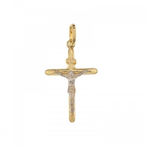 Croce in Oro Giallo e Bianco 803321703339