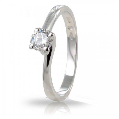 Anello Solitario SALVINI da donna in oro bianco e diamanti Ct 0,32 Ref. 20059019