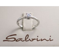 Anello solitario SALVINI in oro bianco e diamante Ct 0,34 Ref. 20016839