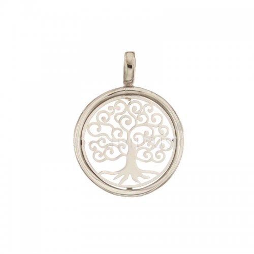 Ciondolo albero della vita oro bianco 803321733343