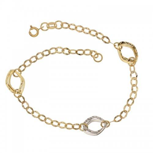 Bracciale da donna Oro giallo e bianco 803321719148