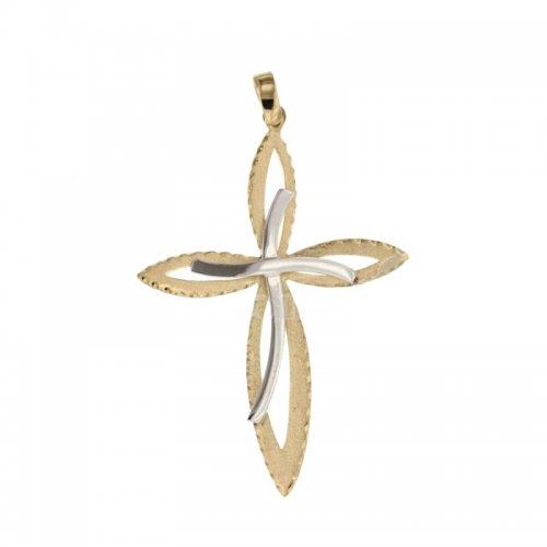 Croce da donna in Oro Giallo e Bianco 803321725405