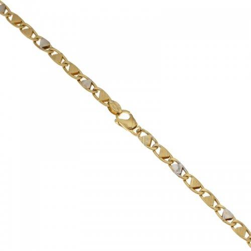 Bracciale Uomo in Oro Giallo e Bianco 803321712106