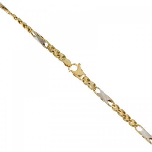 Bracciale Uomo in Oro Giallo e Bianco 803321718188