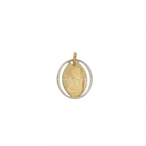Ciondolo angelo oro giallo e bianco 803321714876