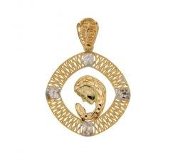 Ciondolo Madonna oro giallo e bianco 803321731672