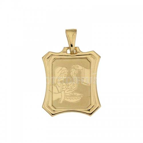 Medaglia Ciondolo da Battesimo Oro Giallo 803321714989
