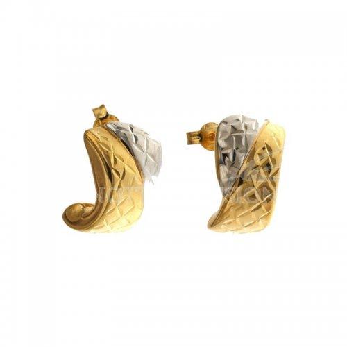 Orecchini Donna in Oro Bianco e Giallo 803321733875