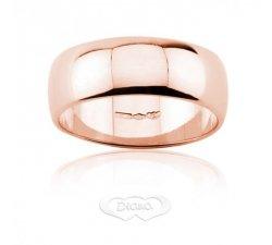 Fede nuziale DIANA Mantovana Oro rosa 7 mm