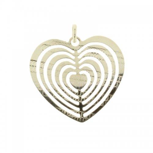 Ciondolo cuore oro bianco 803321713939