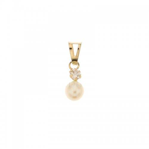 Ciondolo oro giallo con perla 803321734333