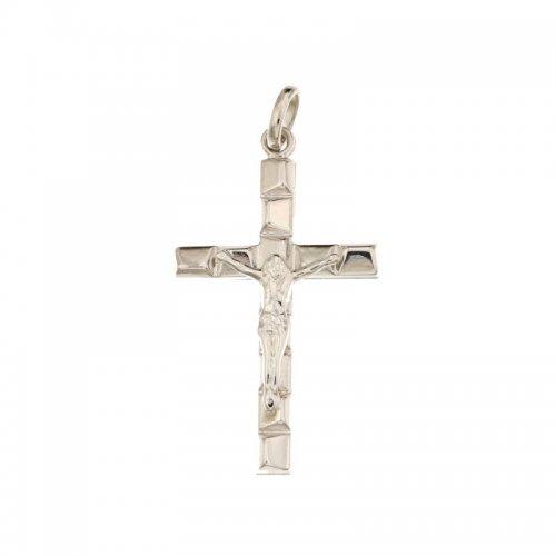 Croce da uomo in Oro Bianco 803321714351