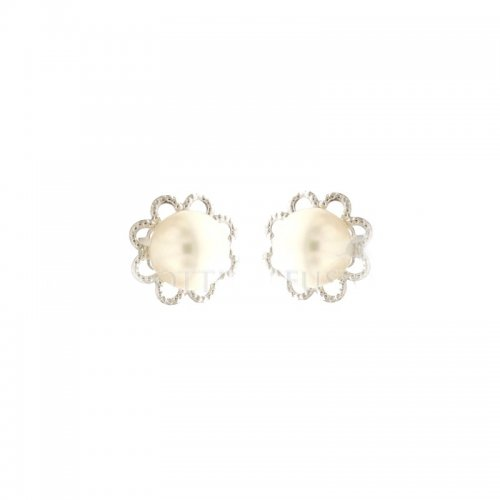 Orecchini Donna Perla in Oro Bianco 803321707318