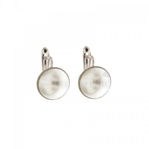 Orecchini Donna Perla in Oro Bianco 803321734313