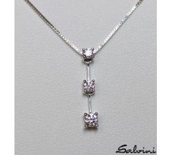 Collana Pendente SALVINI in Oro bianco e diamanti Ct 0,29 Ref.20016842